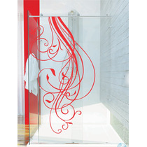 Adesivo Decorativo Parede Banheiro Porta Box Floral Flor