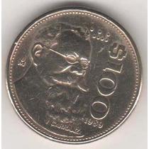 Moeda Mexico 100 Pesos - 1989 - U. Carranza- Soberba - 25mm