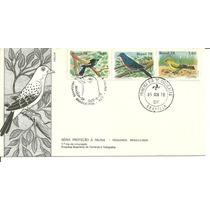 Fdc-150 1978 Proteção-a-fauna-pássaros Cbc+1ºdia-brasília-df