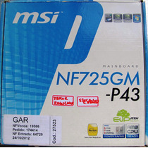 Placa Mae Am3 Msi Nf725gm-p43 / Defeito No Regulador