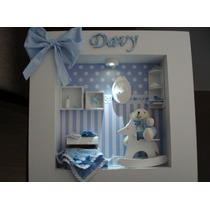 Quadro Para Porta De Maternidade Com Led, Decorativo, Quarto