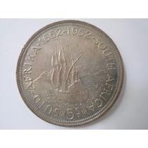 África Do Sul Prata 500 Moeda 5 Shilling 1952