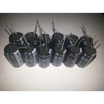 Lote Com 12 Peças De Capacitores Eletroliticos 100x400v 105º