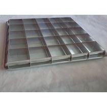 Forma Para Pão De Mel Quadrado 25 Cavidades Em Alumínio