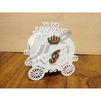 Cachepo Carruagem Das Princesas Principe Mdf Branco De 3mm