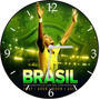 Relógio De Parede Em Vinil, Copa, Brasil, Futebol
