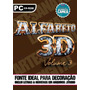 Silhouette Cameo - Alfabeto 3d - Volume 3 - Novo E Exclusivo
