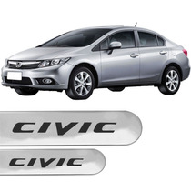 Jogo Friso Lateral Honda New Civic 2012/.. Prata Global