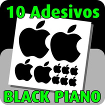 Adesivos Maça Apple Black Piano - Frete Grátis - Kit 10 Unds