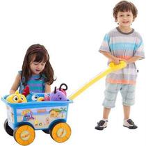 Brinquedo Carrinho De Empurrar Wagon Galinha Pintadinha Bebe