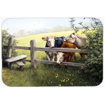 Vacas Em Um Buttercup Meadow Cozinha Ou Banho Mat 20x30 Bdba