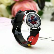 Relógio Infantil Homem Aranha Lindos Para Crianças