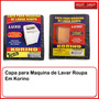 Capa Para Maquina D Lava Flanelada Eletrulux 10kg Tb Limpeza