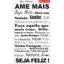 Adesivo Decorativo Parede Frases - Ame Mais - Cod. 137