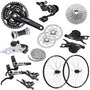 Kit Grupo Shimano Deore Dyna-sys 2014 M610 + Roda Deore 29