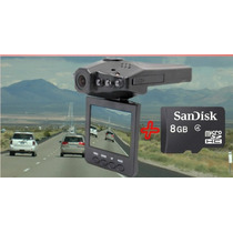 Câmera Hd Video Filmadora Automotiva Tela Lcd +cartão 8 Gb