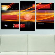 Quadro Decorativo Universo Singular - G 3 Peças Frete Grátis