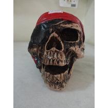 #11021 - Enfeite Mesa Caveira Pirata, Vermelho!!!