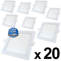 Kit 20 Plafon Led 18w Embutir Gesso Sanca Spot Led