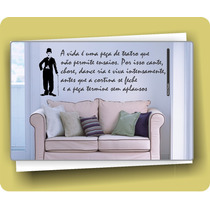Adesivo Decorativo Parede Frase Charlie Chaplin 130cm X 48cm