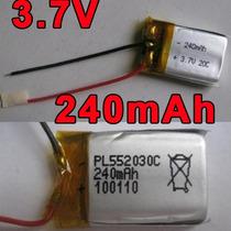 Bateria Lipo 3,7v 240mah Helicoptero Syma Rc Camera Pro Go