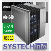 Gabinete Corsair Cube Air 540 Silver Acrilico Usb 3.0 3 Fan