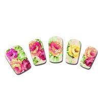 Adesivo De Unha Flores Decorativo - Feminino