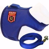 Peitoral Cães E Gatos Azul N2 E Adaptador De Cinto Segurança