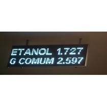Painel Display Letreiro Led White/yellow 132x20 Aquicompras