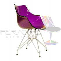 Cadeira Acrílica Wave Torre - Loja Vivo Roxa/púrpura