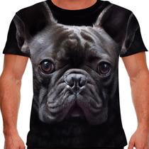 Camiseta Cachorro Bulldog Francês Masculina