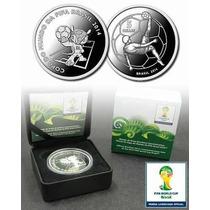 5 Reais (prata) Comemorativa Copa Do Mundo - Fuleco
