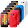 Capa/case Tpu Gel Skin Para Motorola G + Película Protetora