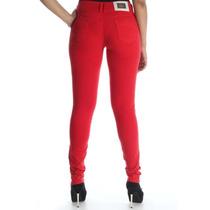 Calça Sawary Skinny Vermelha Jeans Color