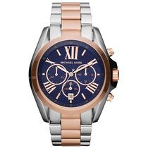 Relógio Michael Kors Mk5606 Azul E Rose - Original Garantia