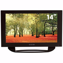 Televisão Cce 14 Polegadas Vga/av C/ Usb Preto