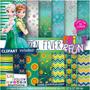 Kit Papel Scrapbook Digital Frozen Fever - Ml10