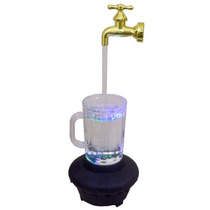 Caneca Torneira Magica Luminaria Com Leds Fonte De Agua