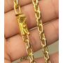 Corrente Cordão Folheado A Ouro 18k 90cm Fecho De Gaveta