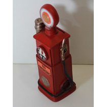 Miniatura Bomba Gasolina Retro Gas Cofre Moedas Shell