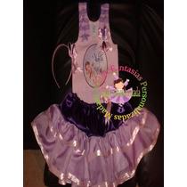 Vestido Fantasia Roupa Aniversário Luxo Violeta Violetta