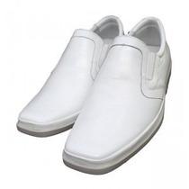 Sapato Social Branco Anatomic Gel 24h Farmacia Couro Frete