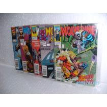 5 Gibis Wolverine Abril Nºs31-32-33-34-35 Valor Lote Hqs Fj