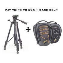 Bolsa Case + Tripe 1.45 Metros Câmera Digital Dslr Filmadora