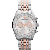 Relógio Emporio Armani Ar5999 Prata Rose Lindo Frete Grátis