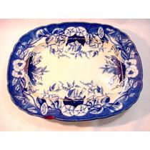 Travessa Original Azul Borrão Em Porcelana Europeia Sécxvlll