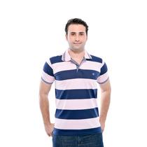 Camisa Polo Listrada Promoçao Pp P M G Gg Camiseta