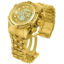 Relógio Invicta 12738 Reserve Bolt Zeus Dourado Caixa/manual