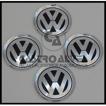 Jg Emblema Vw Alumínio Golf/ Jetta/ Kr Kromma 78mm - 4 Pçs