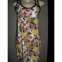 Vestido Floral Curto Em Liganete + Sapatilha + Brinde